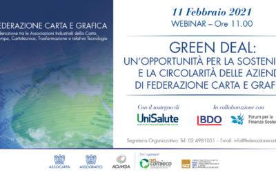 11 FEBBRAIO, WEBINAR DI FEDERAZIONE CARTA GRAFICA