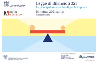 18 MARZO, WEBINAR SULLA LEGGE DI BILANCIO 2021