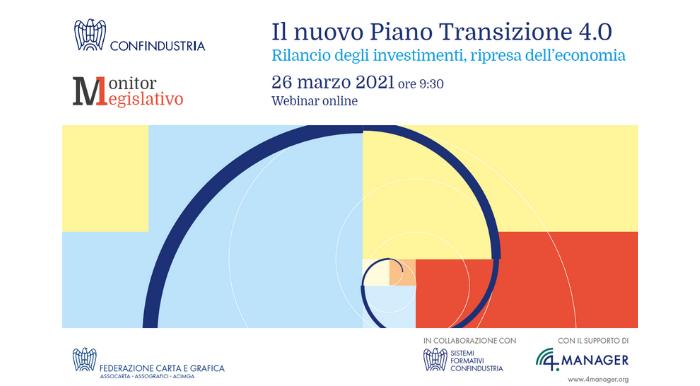 26 MARZO, WEBINAR SUL PIANO TRANSIZIONE 4.0